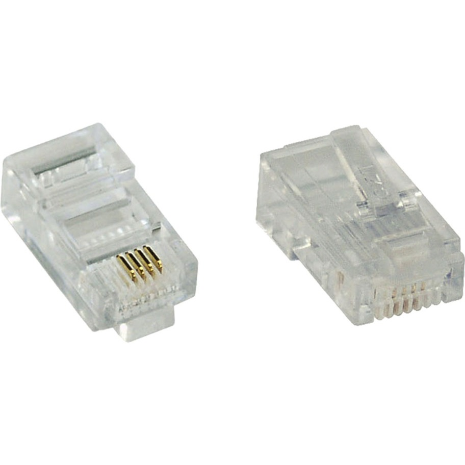 73000L RJ-45 Transparente conector, Enchufe