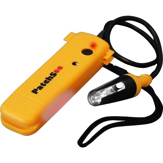 PatchSee PRO Lámpara de anclaje USB Negro, Amarillo LED, Instrumento de medición