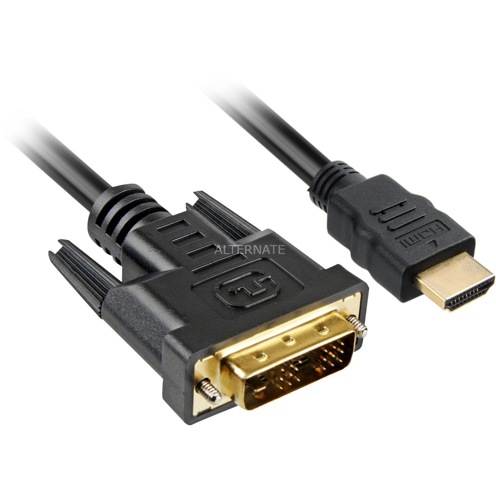 4044951009077 adaptador de cable de vídeo 5 m HDMI DVI-D Negro