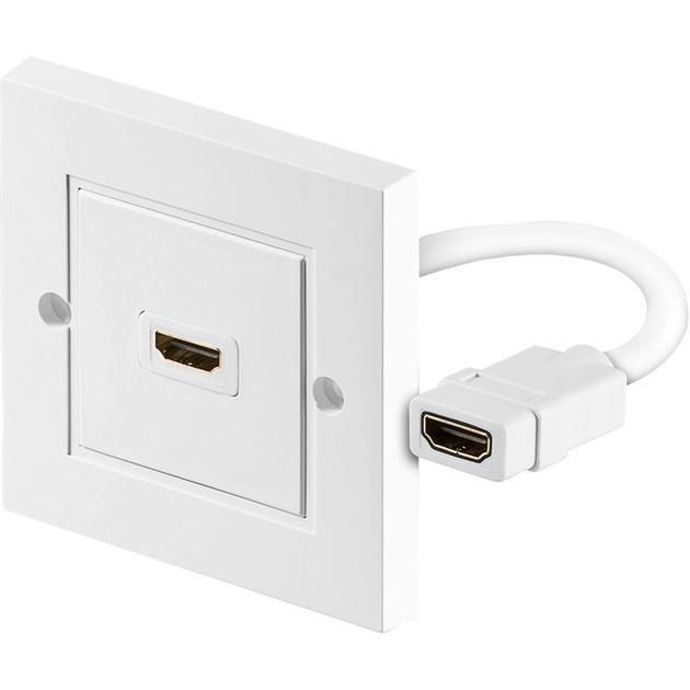 51722 HDMI Type A (Standard) HDMI Type A (Standard) Blanco cable HDMI, Caja de pared