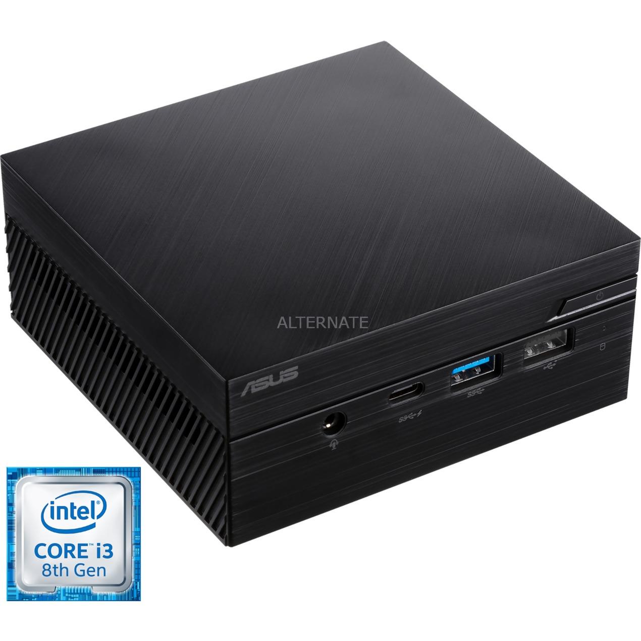 90MS01D1-M00460 PCs/estación de trabajo 8ª generación de procesadores Intel Core i3 8 GB DDR4-SDRAM 128 GB SSD Negro Mini PC, Mini-PC