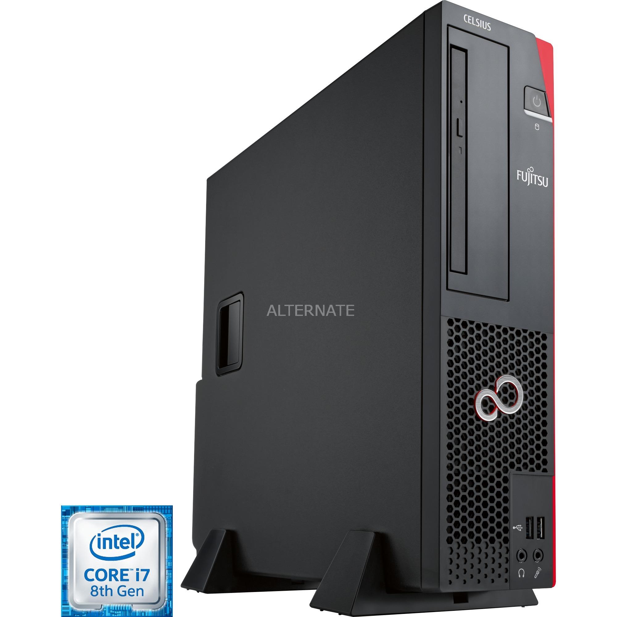 CELSIUS J580 3,2 GHz 8ª generación de procesadores Intel Core i7 i7-8700 Negro SFF Puesto de trabajo, PC completo
