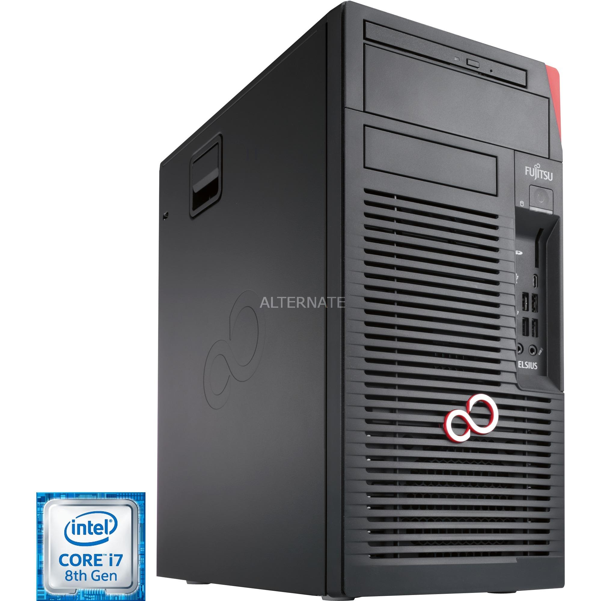 CELSIUS W580 3,2 GHz 8ª generación de procesadores Intel Core i7 i7-8700 Negro Torre Puesto de trabajo, PC completo