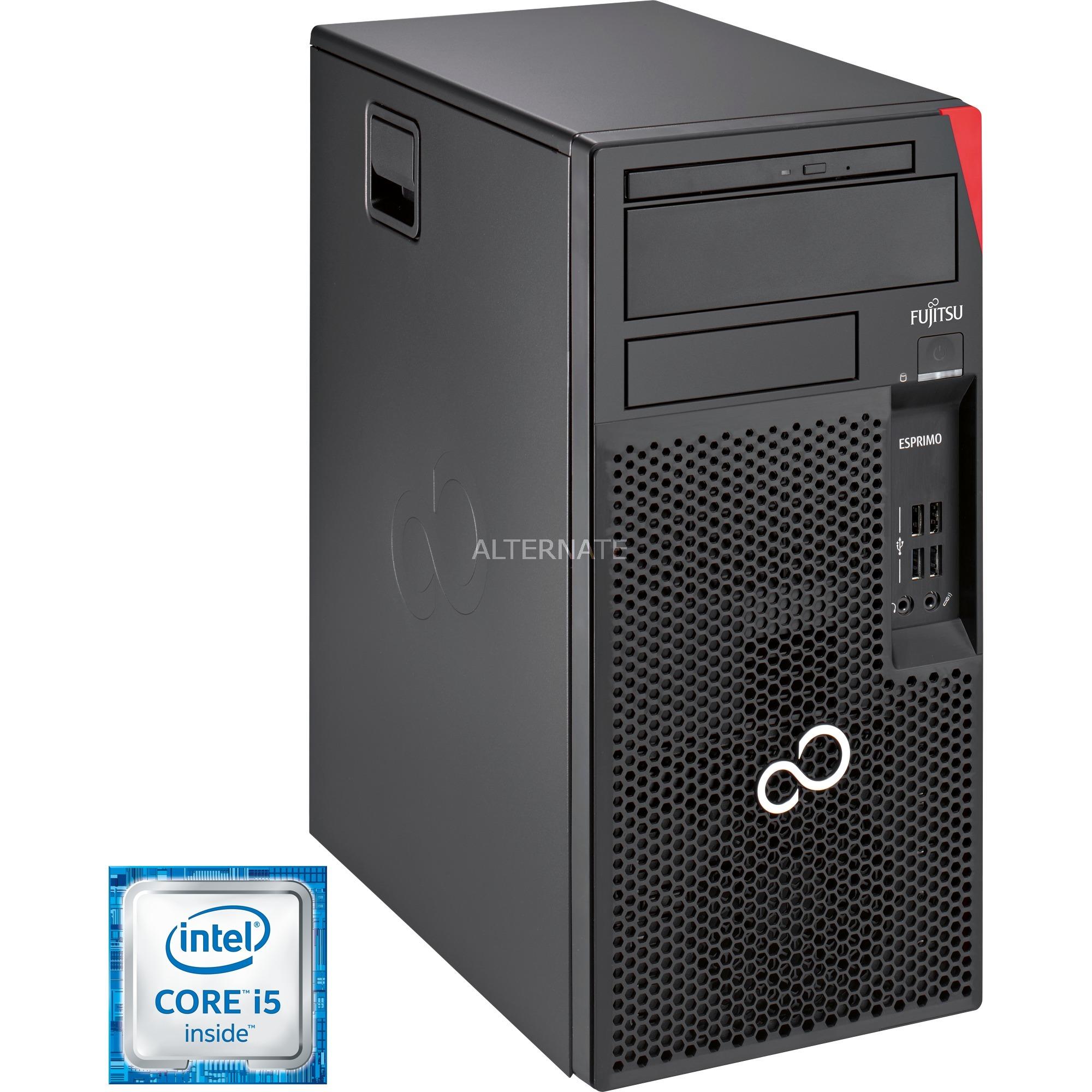 ESPRIMO P557 E85+ 6ª generación de procesadores Intel Core i5 i5-6400 4 GB DDR4-SDRAM 500 GB Unidad de disco duro Negro Torre PC, PC completo