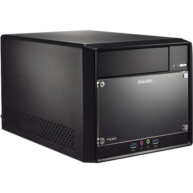 SH110R4 PC/estación de trabajo barebone Intel H110 Escritorio Negro