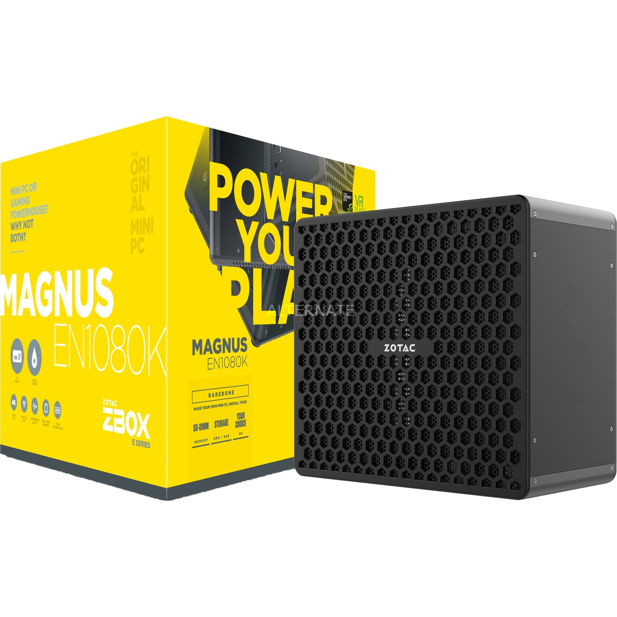 Magnus EN1080K 3,6 GHz i7-7700 Negro LGA 1151 (Zócalo H4), Barebone