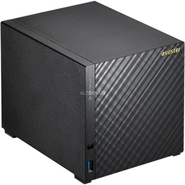 AS3104T servidor de almacenamiento Ethernet Negro NAS