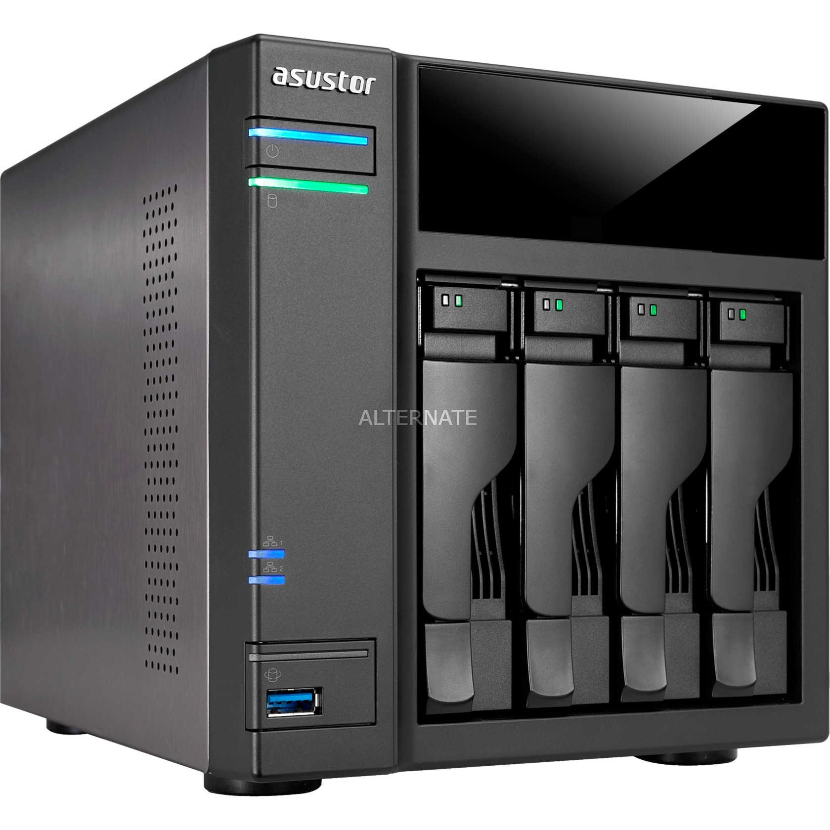 AS6104T Ethernet Negro NAS