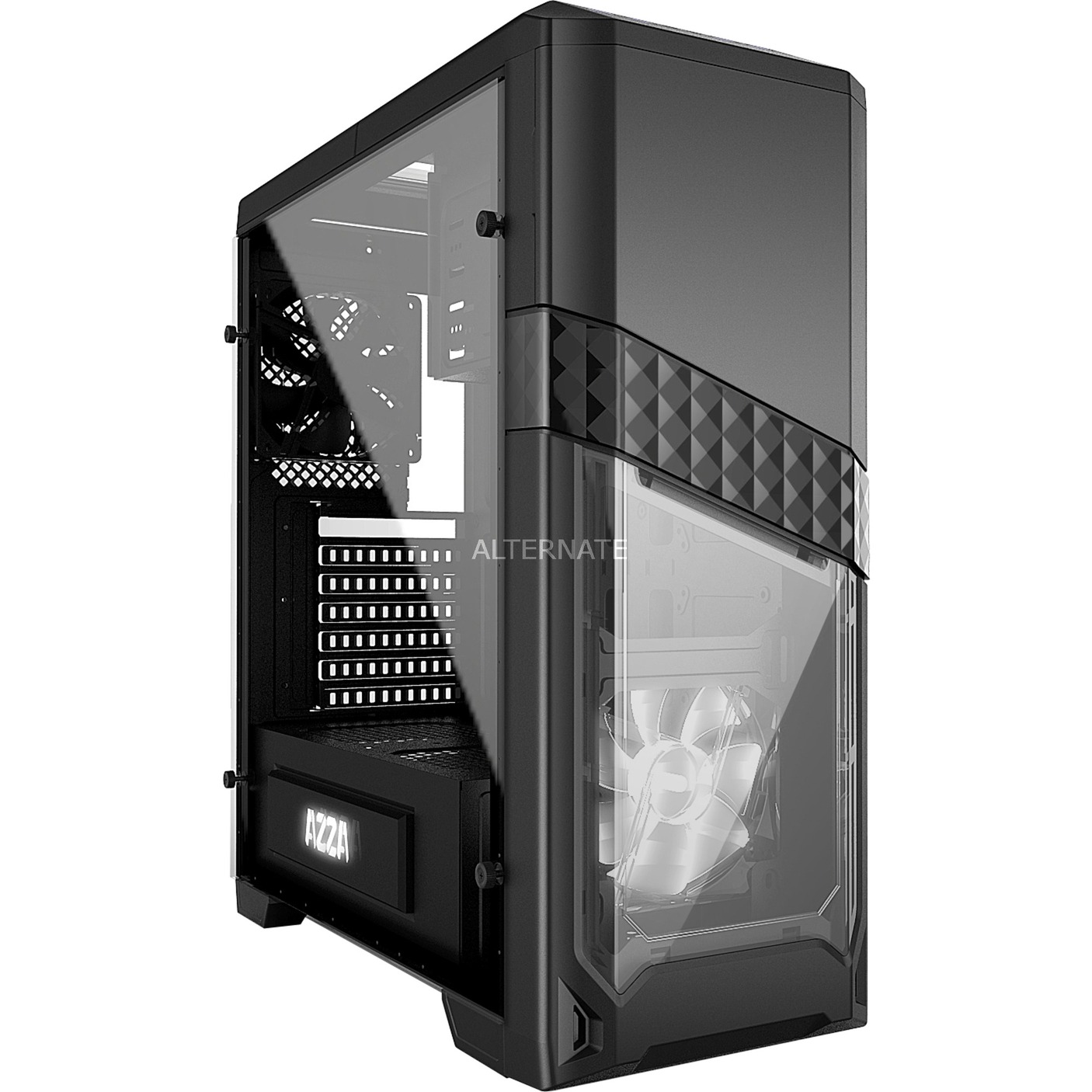 CSAZ-240X carcasa de ordenador Midi-Tower Negro, Cajas de torre