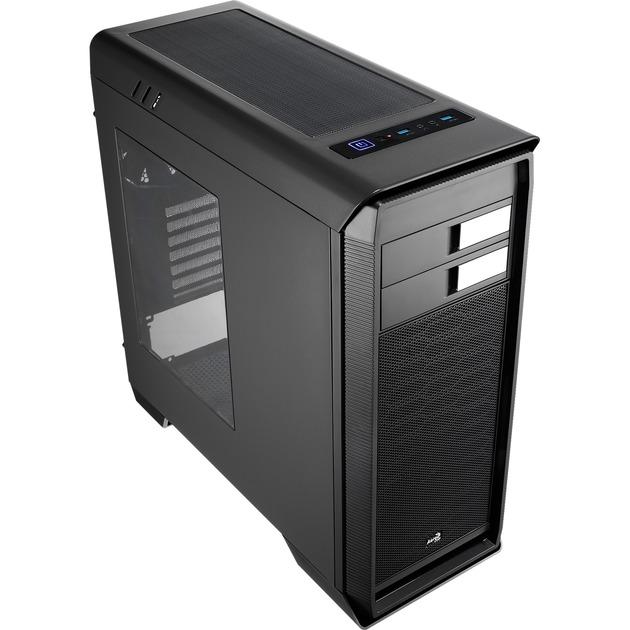 AERO-1000 Midi-Tower Negro carcasa de ordenador, Cajas de torre
