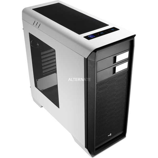 Aero-1000 White Case Midi-Tower Negro, Blanco, Cajas de torre