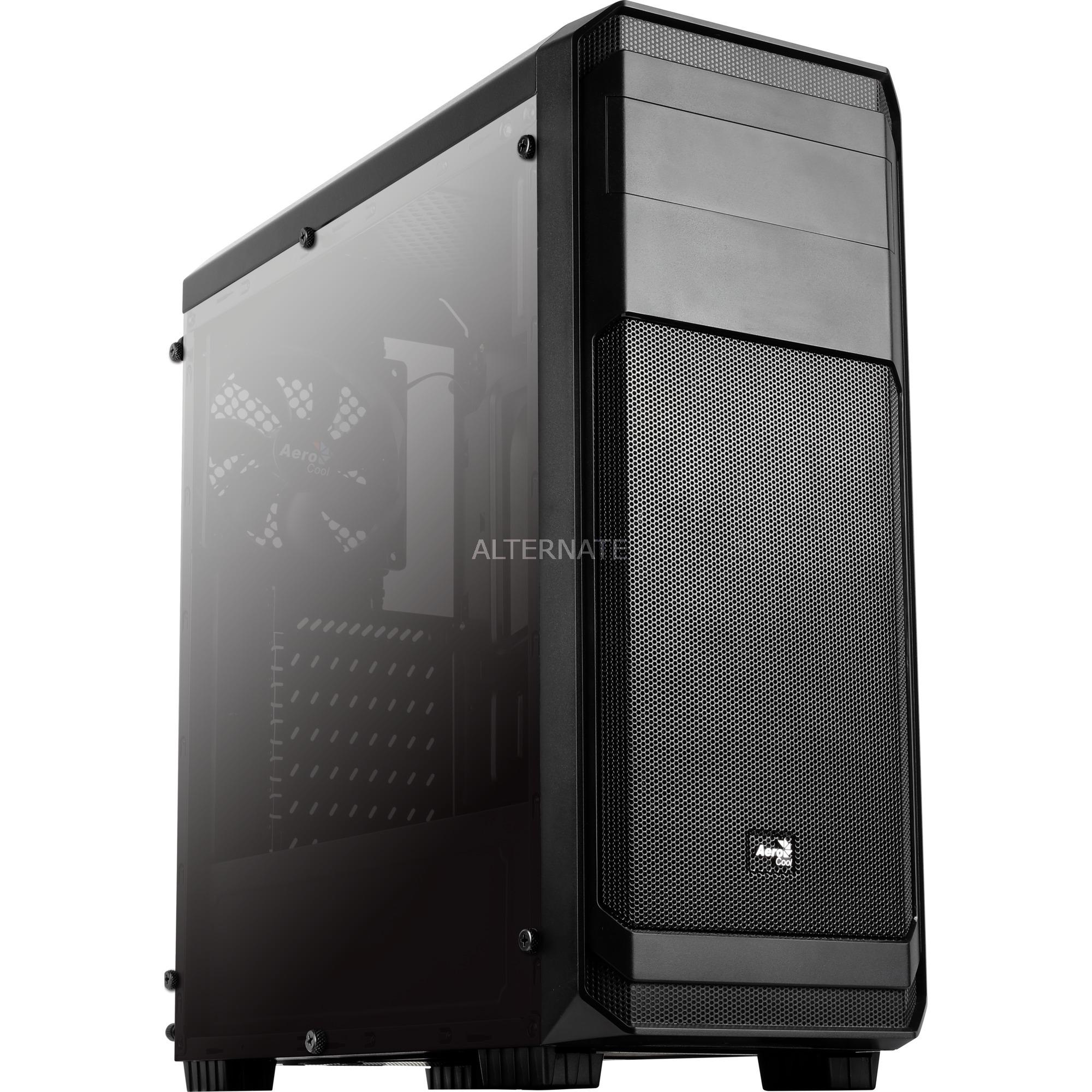 Aero-300 FAW carcasa de ordenador Midi-Tower Negro, Cajas de torre