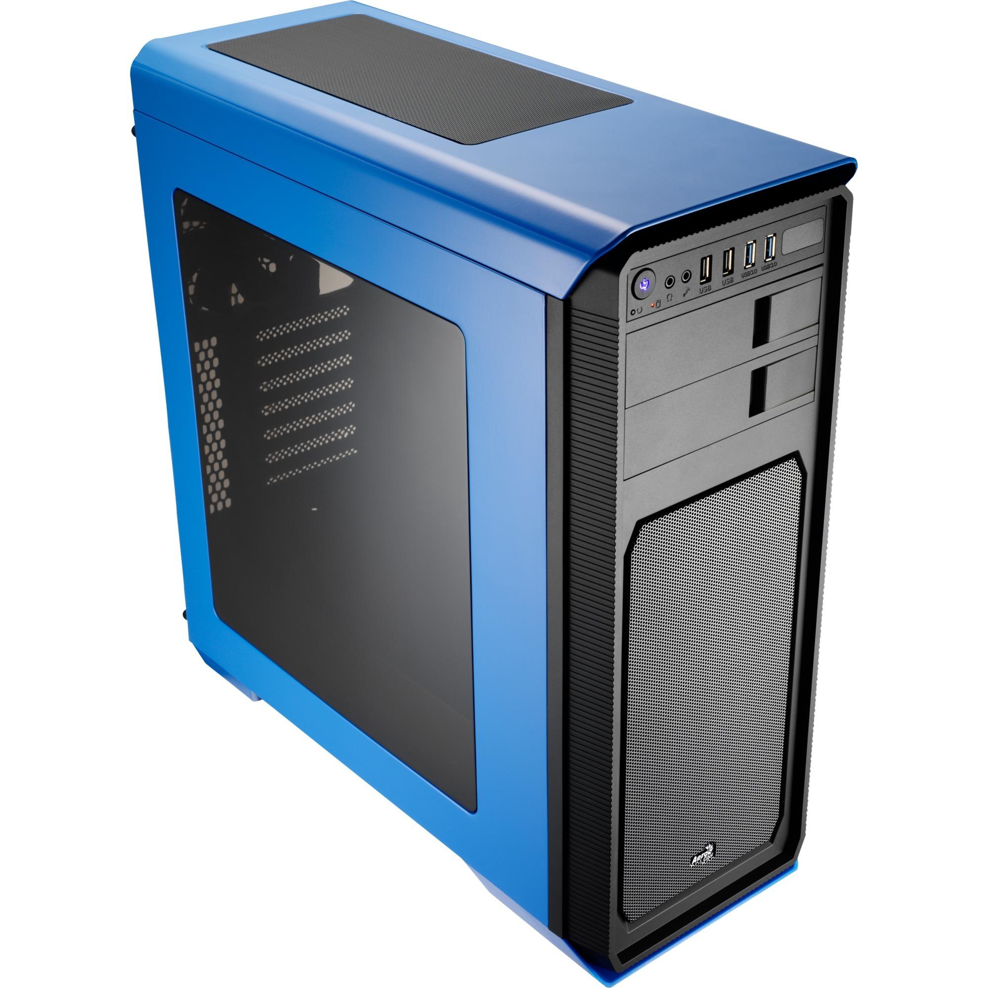 Aero-800 Midi-Tower Negro, Azul carcasa de ordenador, Cajas de torre