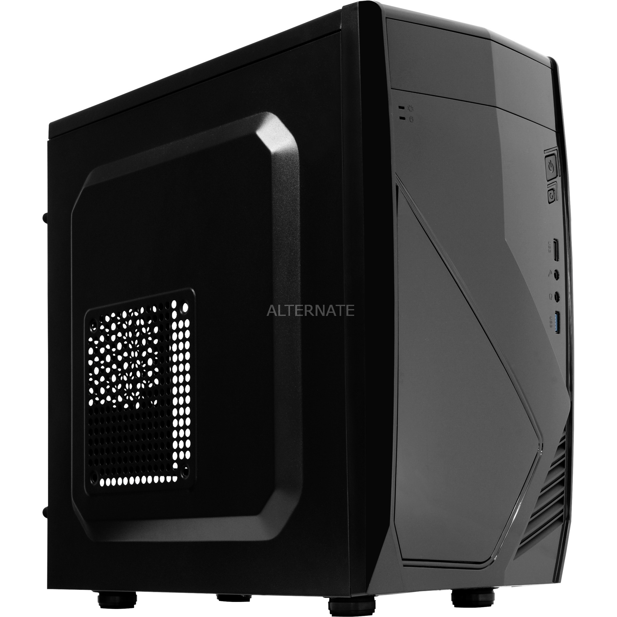 CS102 Midi-Tower Negro carcasa de ordenador, Cajas de torre