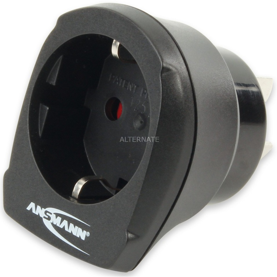 1250-0003 Tipo I (AU) Tipo F Negro adaptador de enchufe eléctrico
