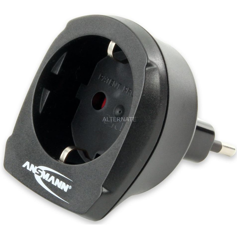 1250-0005 adaptador de enchufe eléctrico Tipo L (IT) Tipo F Negro