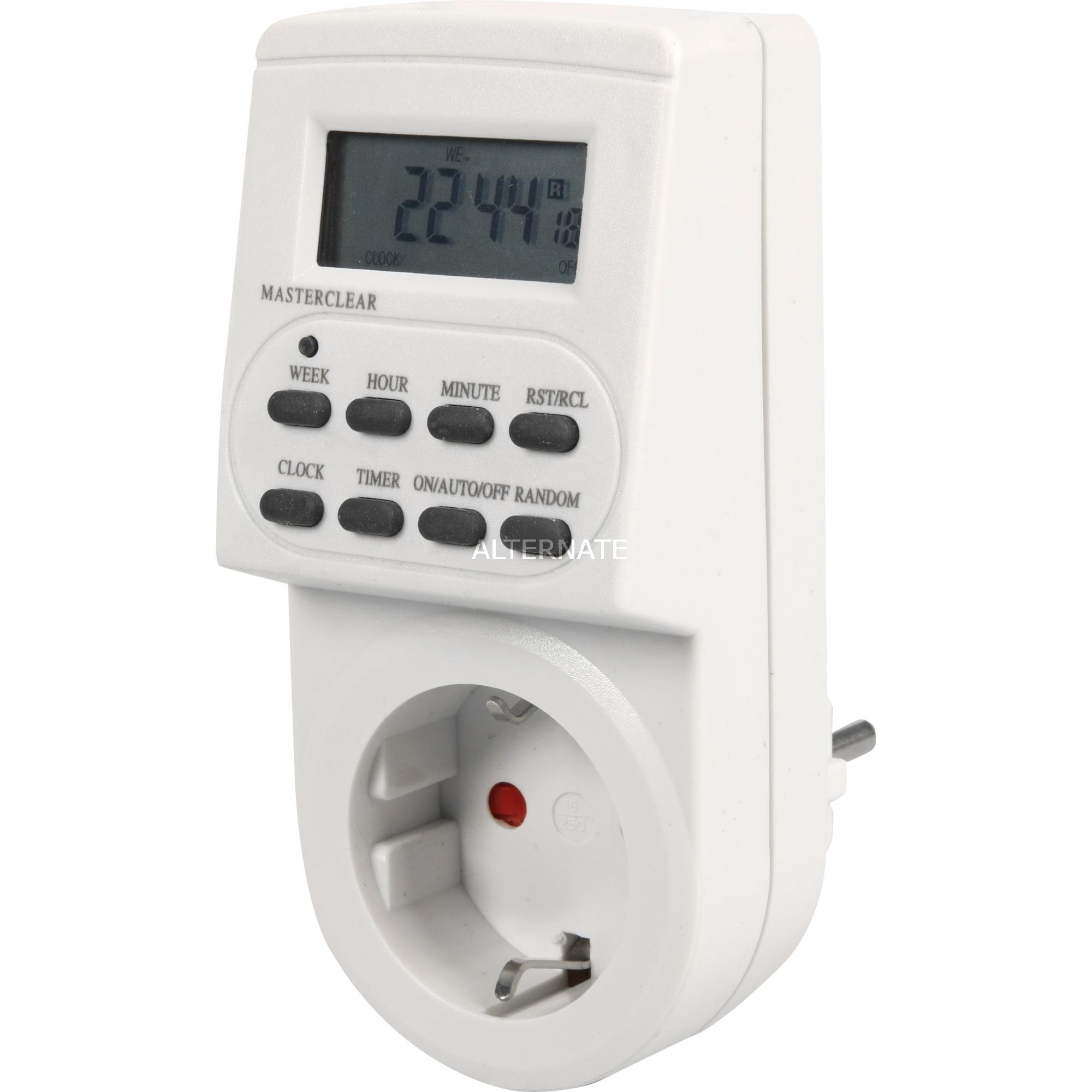 1506550 contador eléctrico Programador eléctrico diario/semanal Blanco, Temporizador