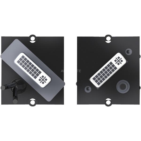 1x DVI-I + 3.5mm DVI-I 3.5mm Negro adaptador de cable, Módulo