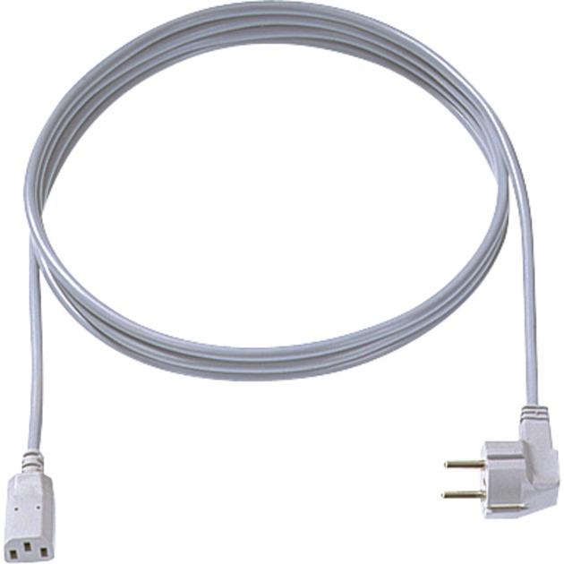 351.984 2m Enchufe tipo F C13 acoplador Gris cable de transmisión