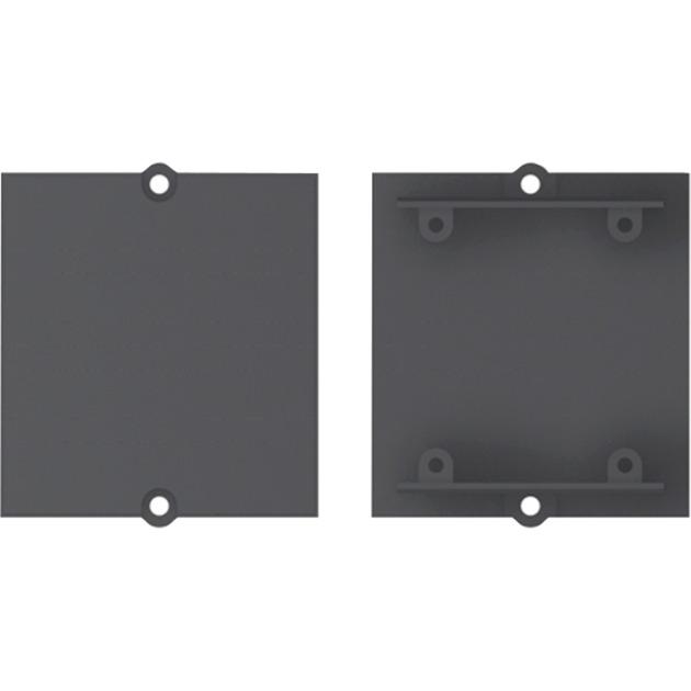917.010 tapa de seguridad para enchufe Negro 1 pieza(s), Bastidor de instalación