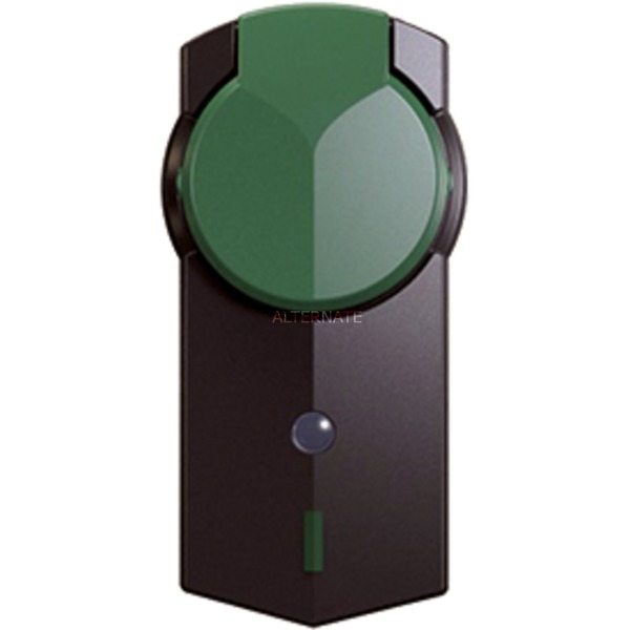 919.022 Negro, Verde enchufe inteligente, Adaptador de enchufe