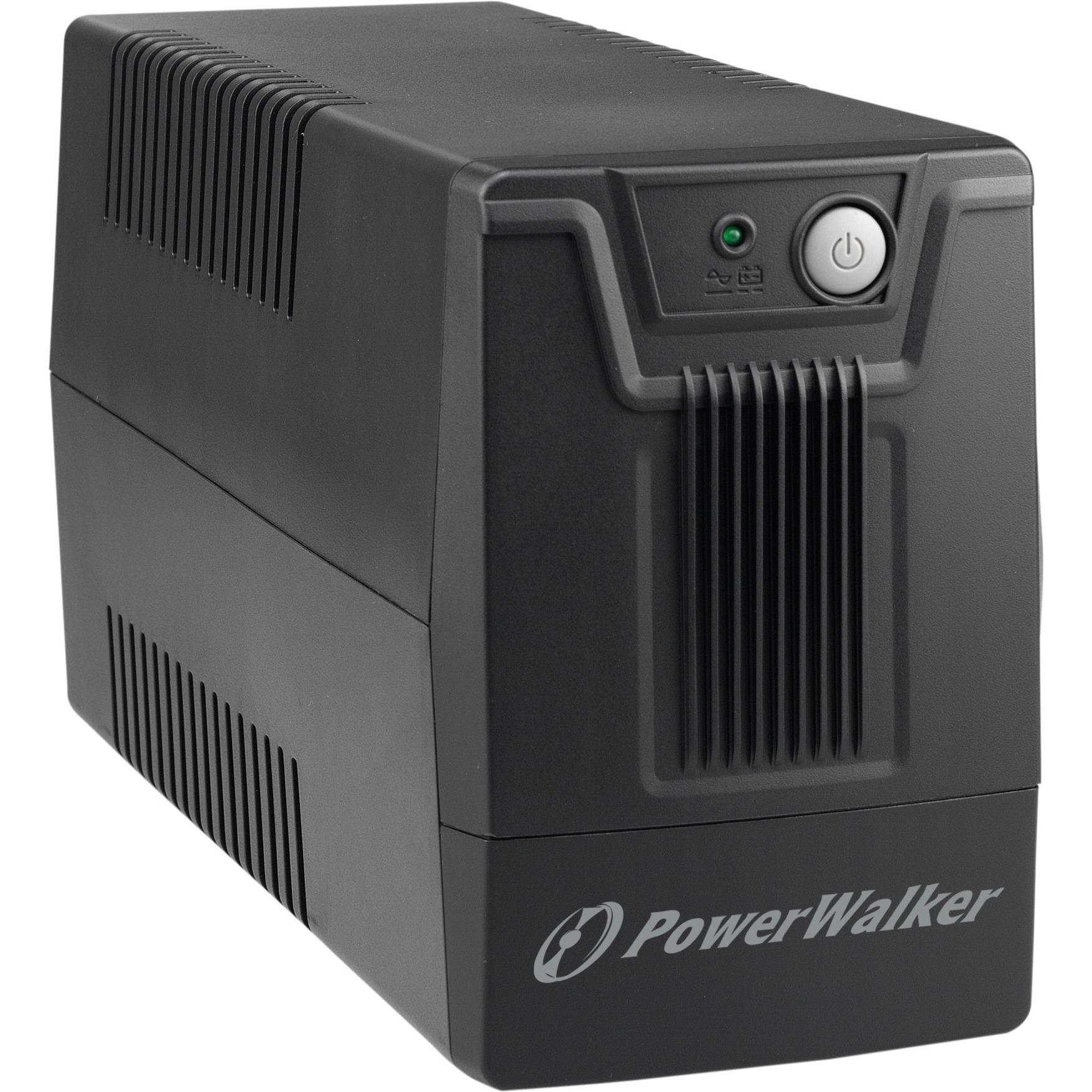10121025 Línea interactiva 800VA 2salidas AC Torre Negro sistema de alimentación ininterrumpida (UPS)