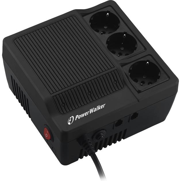 AVR 1000 regulador de voltaje 180-264 V 3 salidas AC Negro