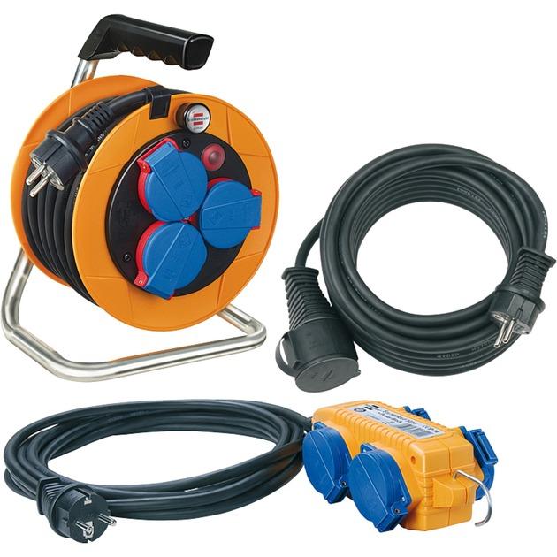 1070150 4AC outlet(s) 25m Multicolor base múltiple, Cable