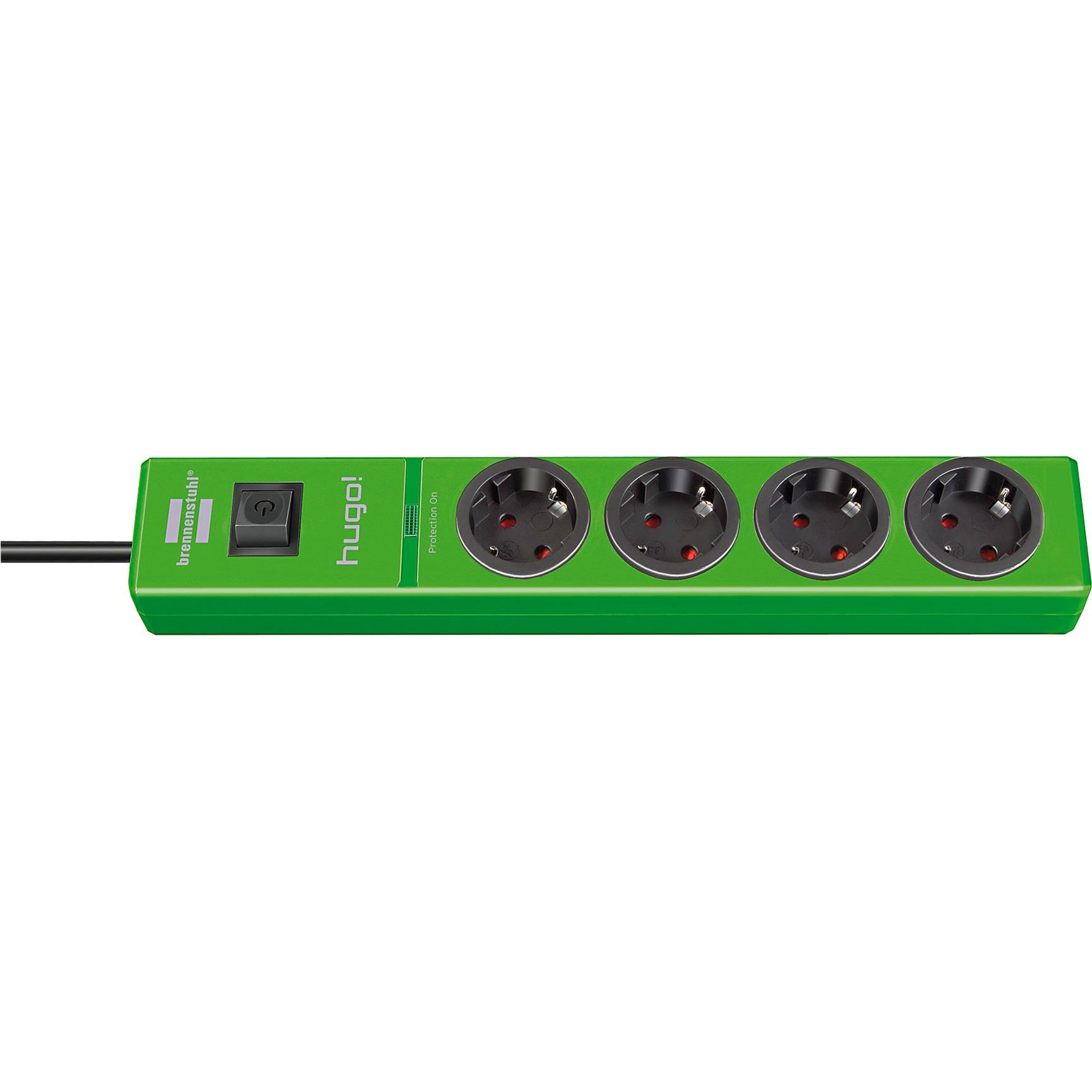 1150610394 4salidas AC 2m Verde limitador de tensión, Regleta
