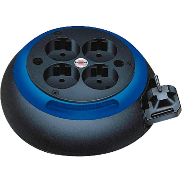 Comfort Line CL-S 4AC outlet(s) 3m Negro, Azul limitador de tensión, Enrrollacables