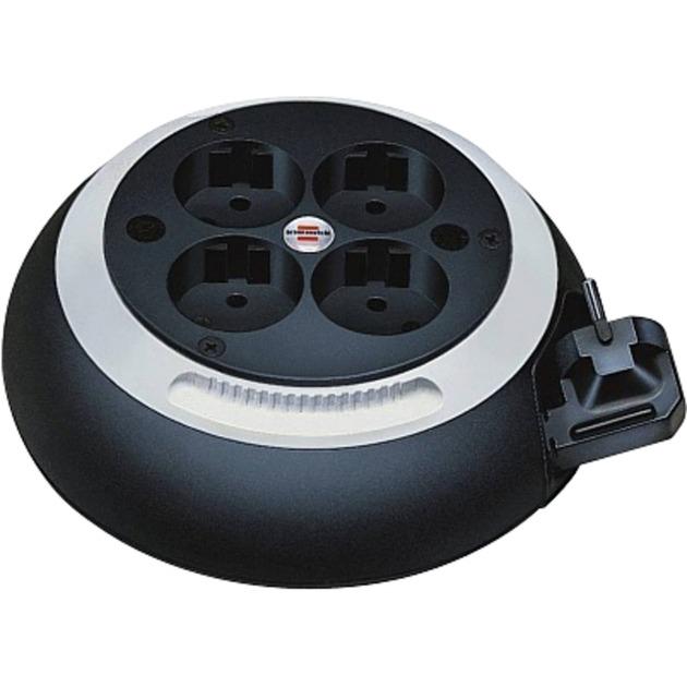 Comfort Line CL-S 4AC outlet(s) 3m Negro, Color blanco limitador de tensión, Enrrollacables