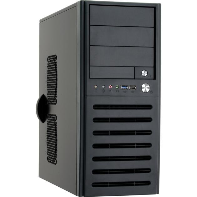 BM-01B-U3-OP carcasa de ordenador Midi-Tower Negro, Cajas de torre