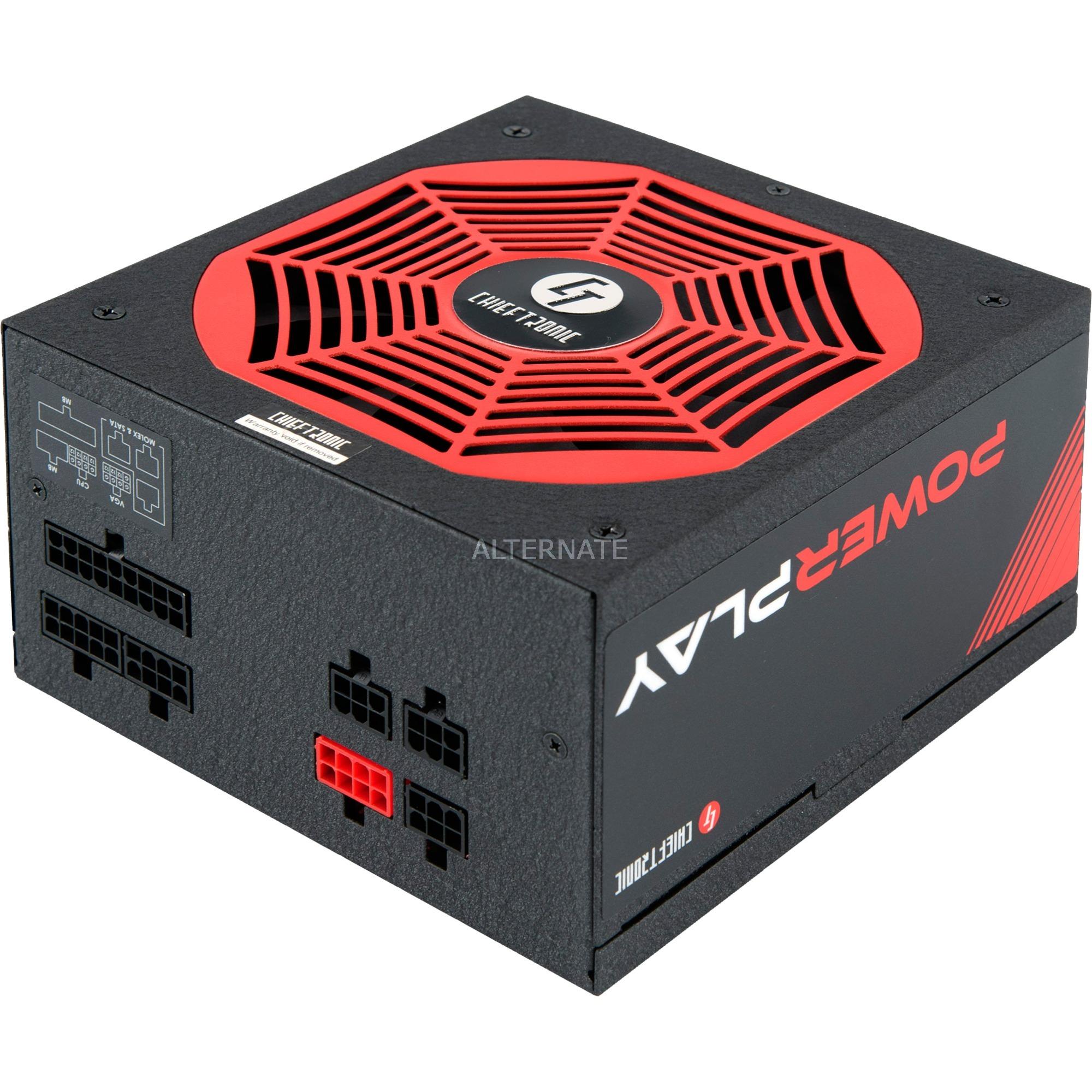 PowerPlay unidad de fuente de alimentación 750 W PS/2 Negro, Rojo, Fuente de alimentación de PC