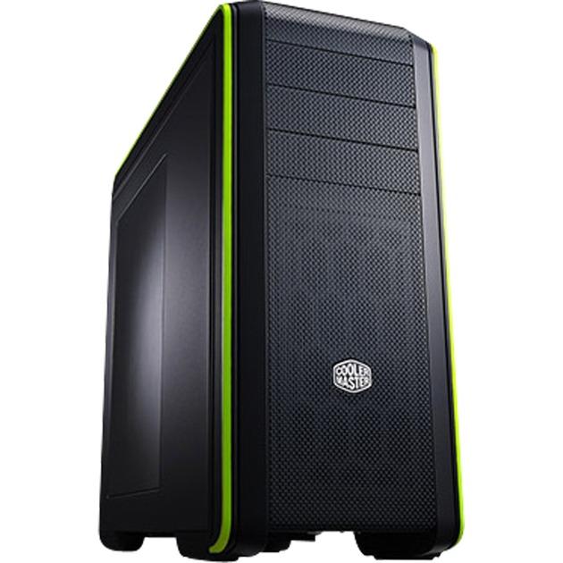 CM 690 III Negro, Verde carcasa de ordenador, Cajas de torre