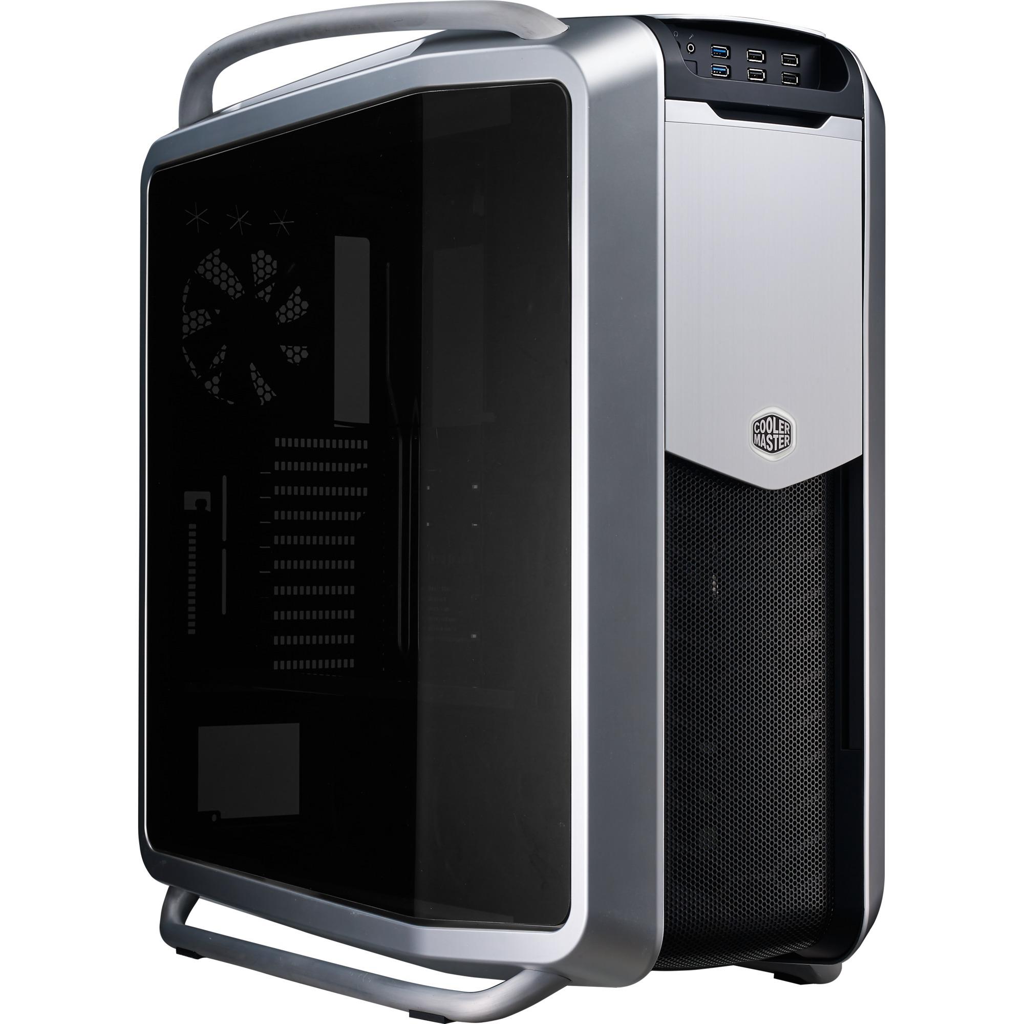 Cosmos II Ultra Tower Negro, Plata carcasa de ordenador, Caja de torre grande