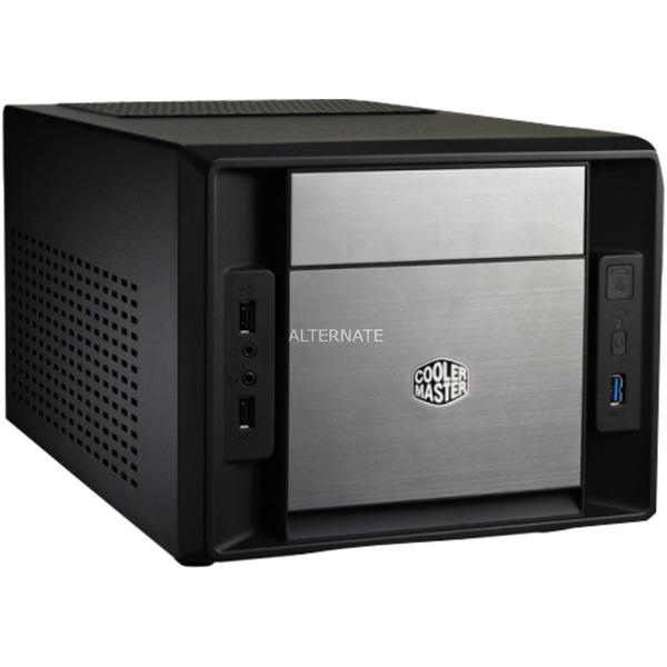 Elite 120 Advanced Cubo Aluminio, Negro carcasa de ordenador, Cajas de torre