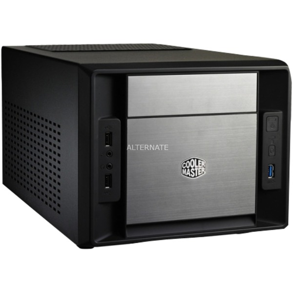 Elite 120 Advanced carcasa de ordenador Cubo Aluminio, Negro, Cajas de torre