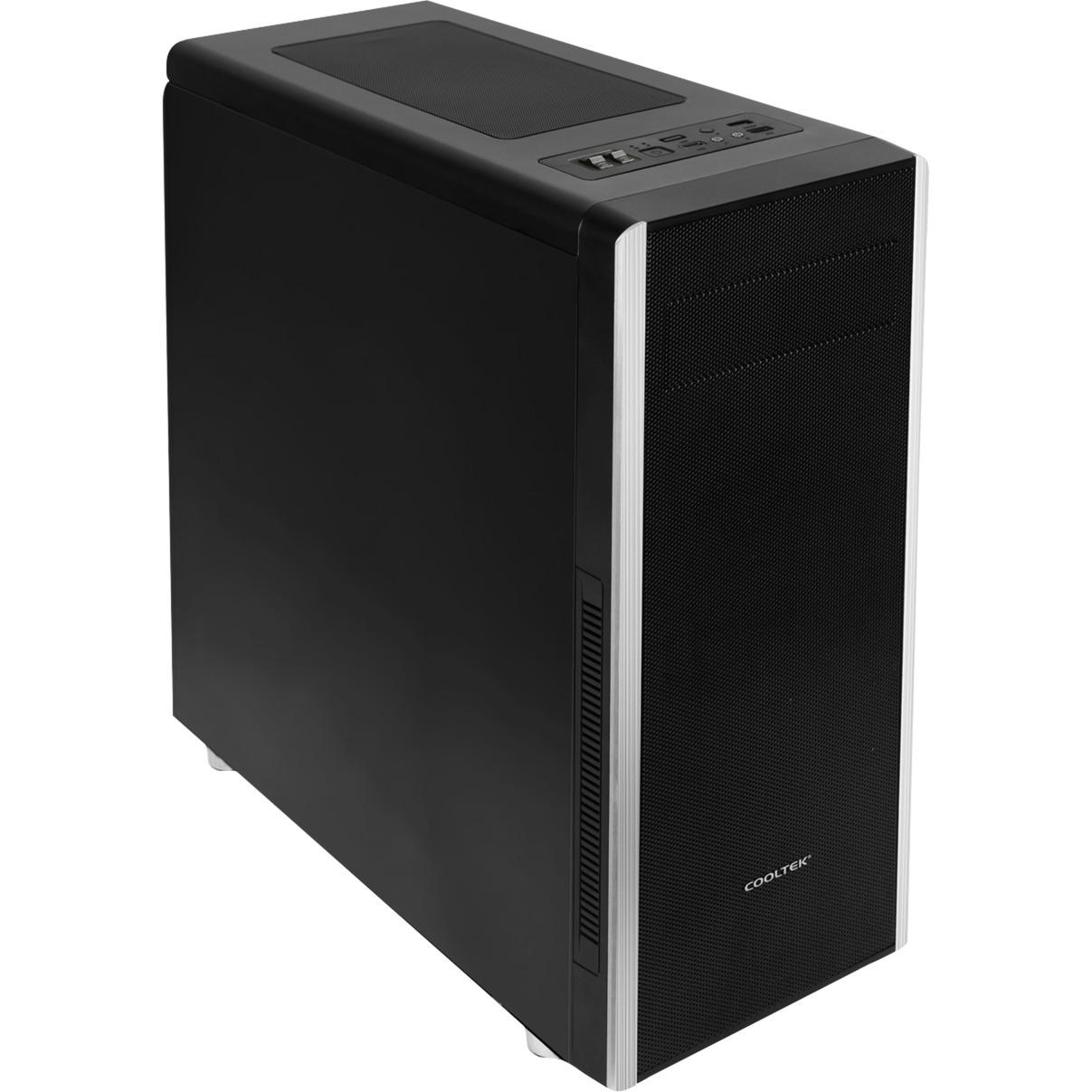 CT NC-01 carcasa de ordenador Midi-Tower Negro, Cajas de torre