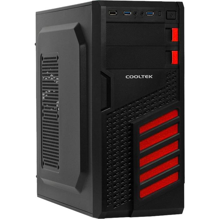 KX Midi-Tower Negro, Rojo carcasa de ordenador, Cajas de torre