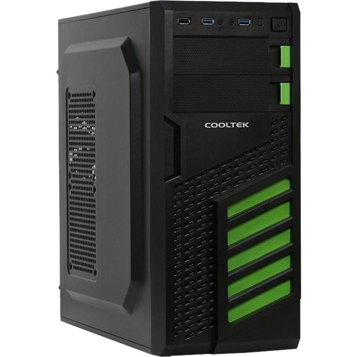 KX Midi-Tower Negro, Verde carcasa de ordenador, Cajas de torre