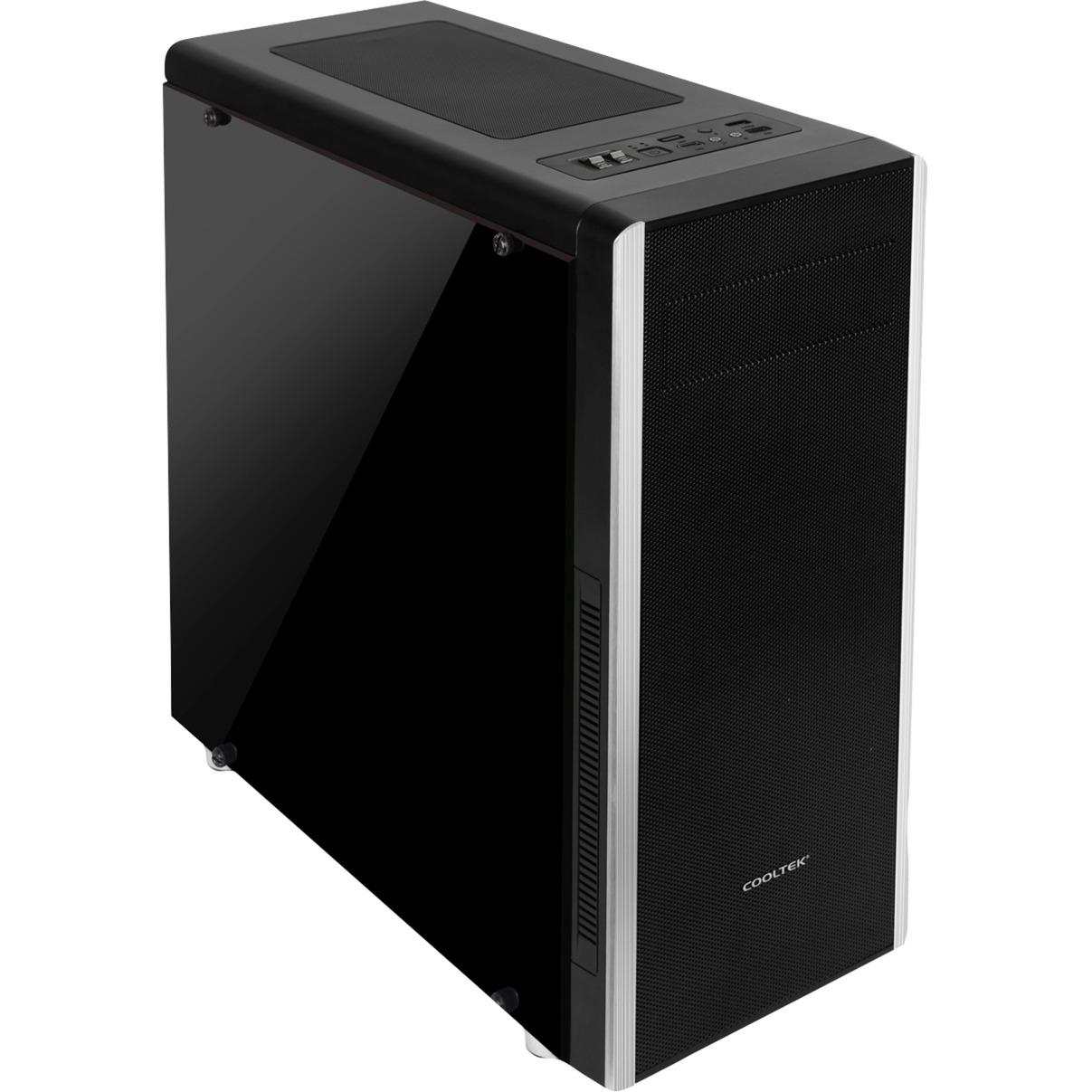 NC-01 Window Midi-Tower Negro carcasa de ordenador, Cajas de torre