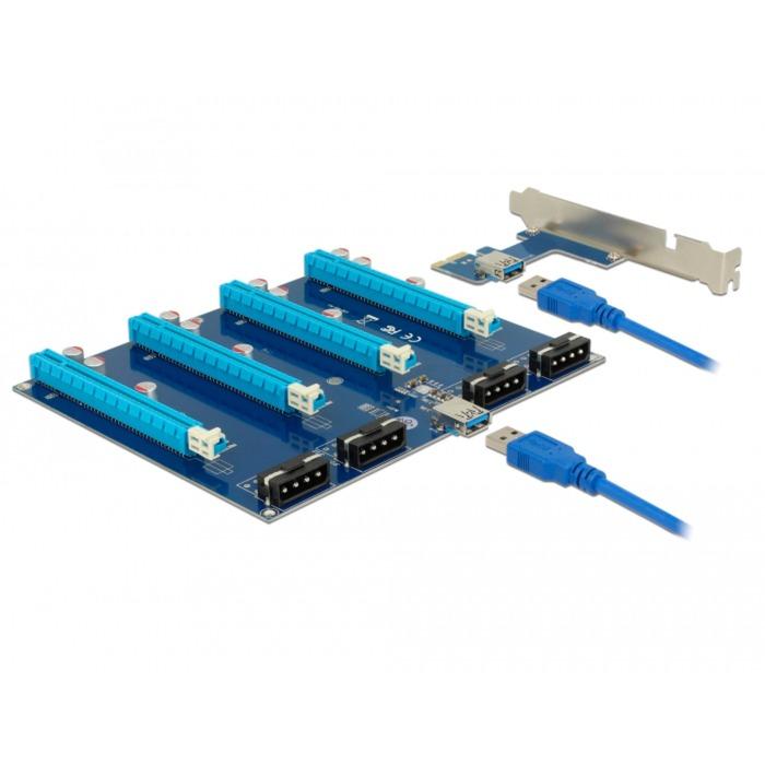 41427 tarjeta y adaptador de interfaz Interno PCIe, USB 3.0, Tarjeta de ampliación