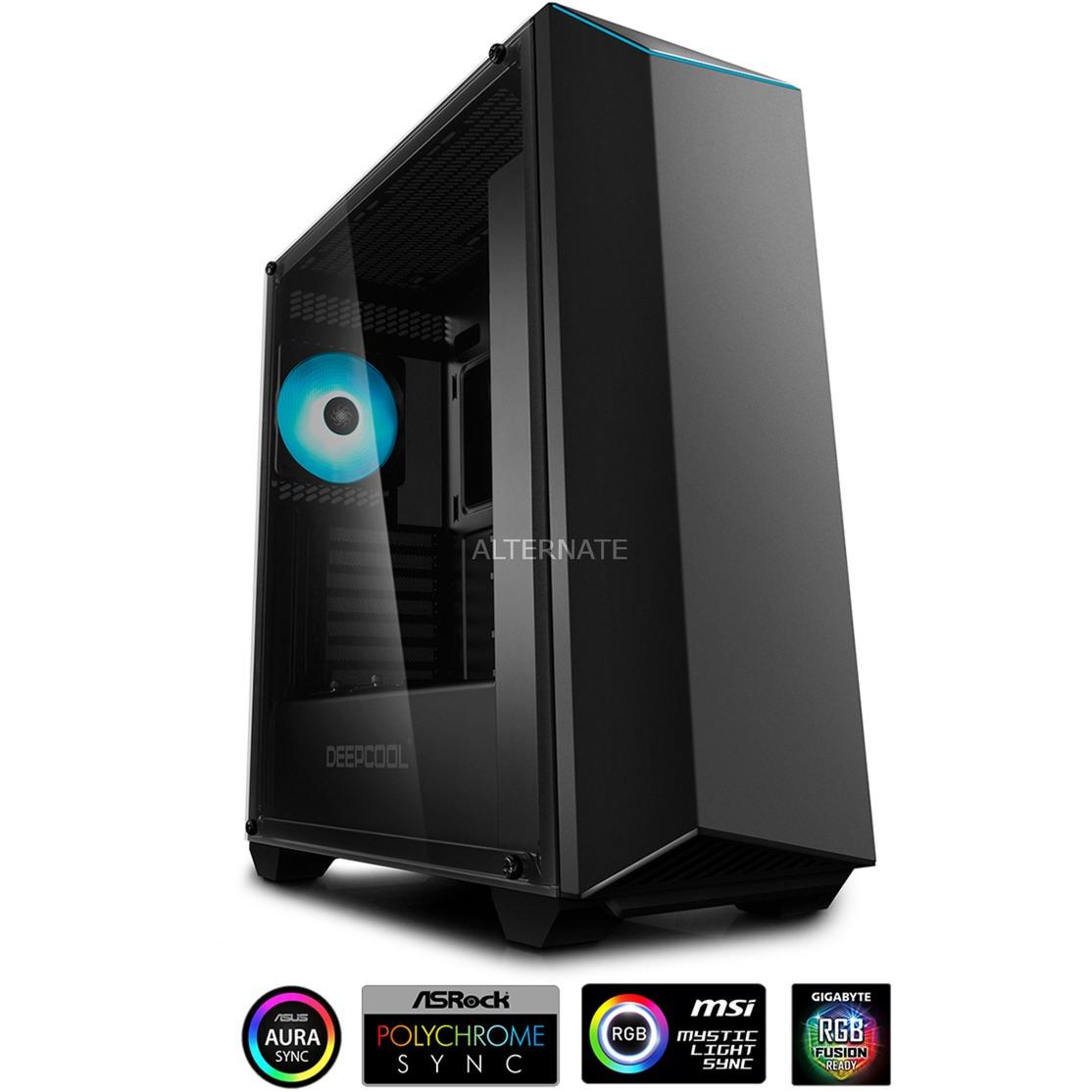 EARLKASE RGB V2 carcasa de ordenador Midi-Tower Negro, Cajas de torre