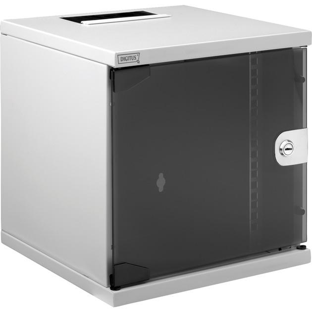 Cabinet system Bastidor de pared 30kg Gris estante, Armario IT