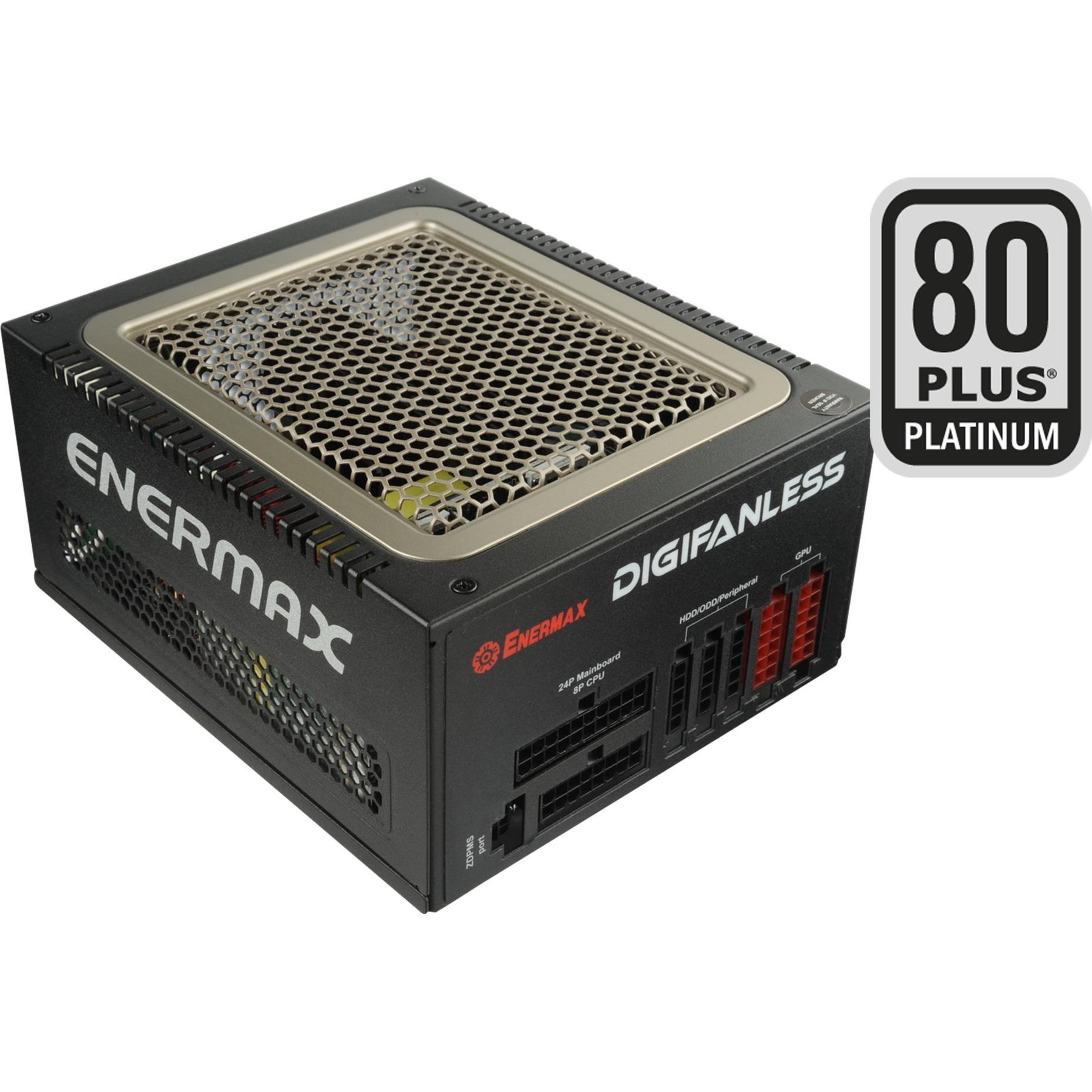 Digifanless unidad de fuente de alimentación 550 W ATX Negro, Fuente de alimentación de PC