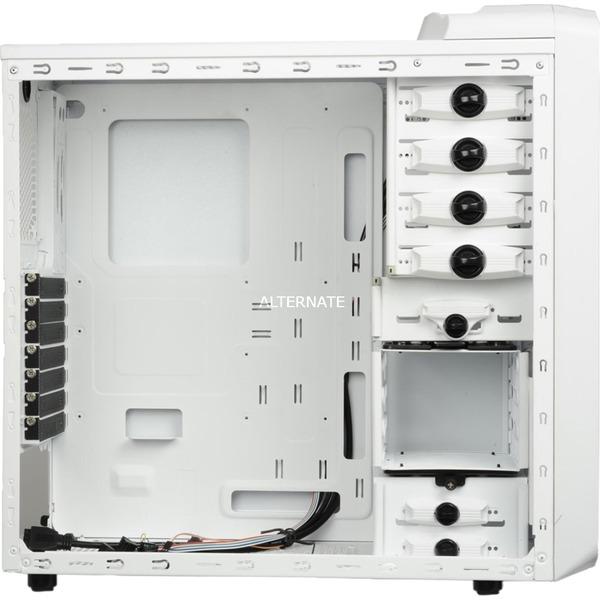 ECA3253-WB Midi-Tower Negro, Color blanco carcasa de ordenador, Cajas de torre