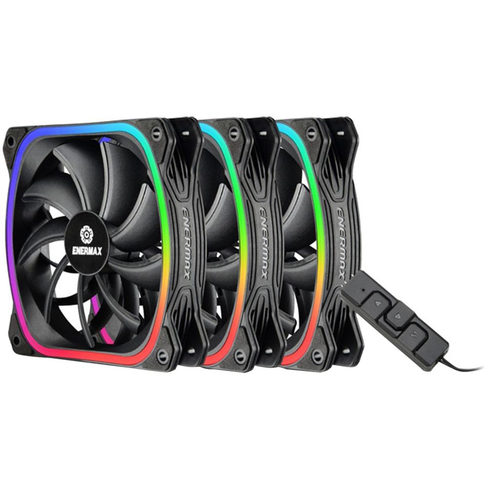 Carcasa del Ordenador, Ventilador, 12 cm, 300 RPM, 1500 RPM, 12 dB Enermax SquA RGB Carcasa del Ordenador Ventilador Ventilador de PC