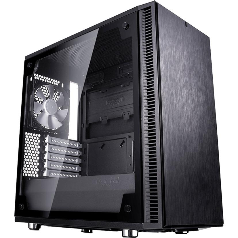Define Mini C TG carcasa de ordenador Mini-Tower Negro, Cajas de torre
