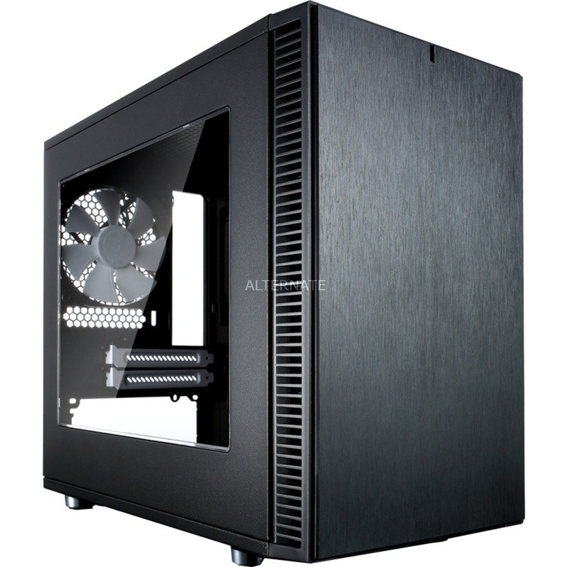 Define Nano S - Window ITX-Tower Negro, Cajas de torre