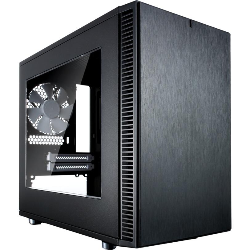 Define Nano S - Window carcasa de ordenador ITX-Tower Negro, Cajas de torre